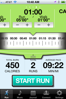 Time + Run/Walk Interval