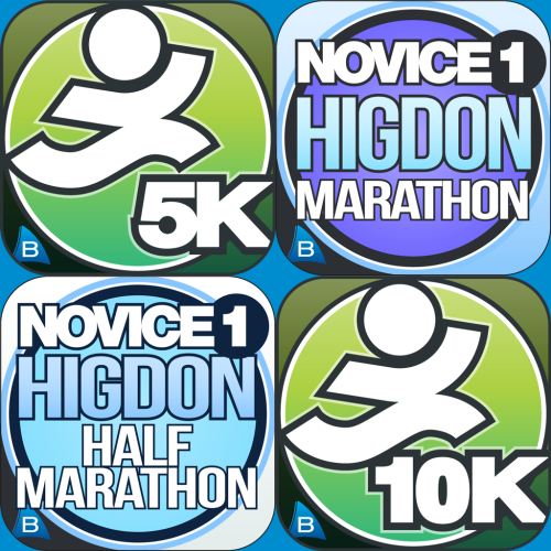 5k 10k hal higdon marathon novice running apps